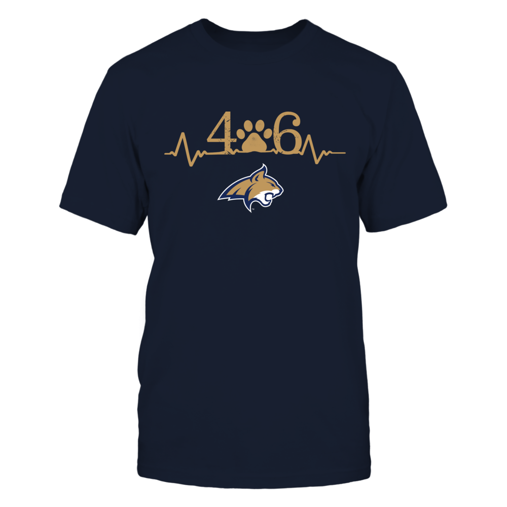Montana State Bobcats - Area code - Paw - Heartbeat Front picture