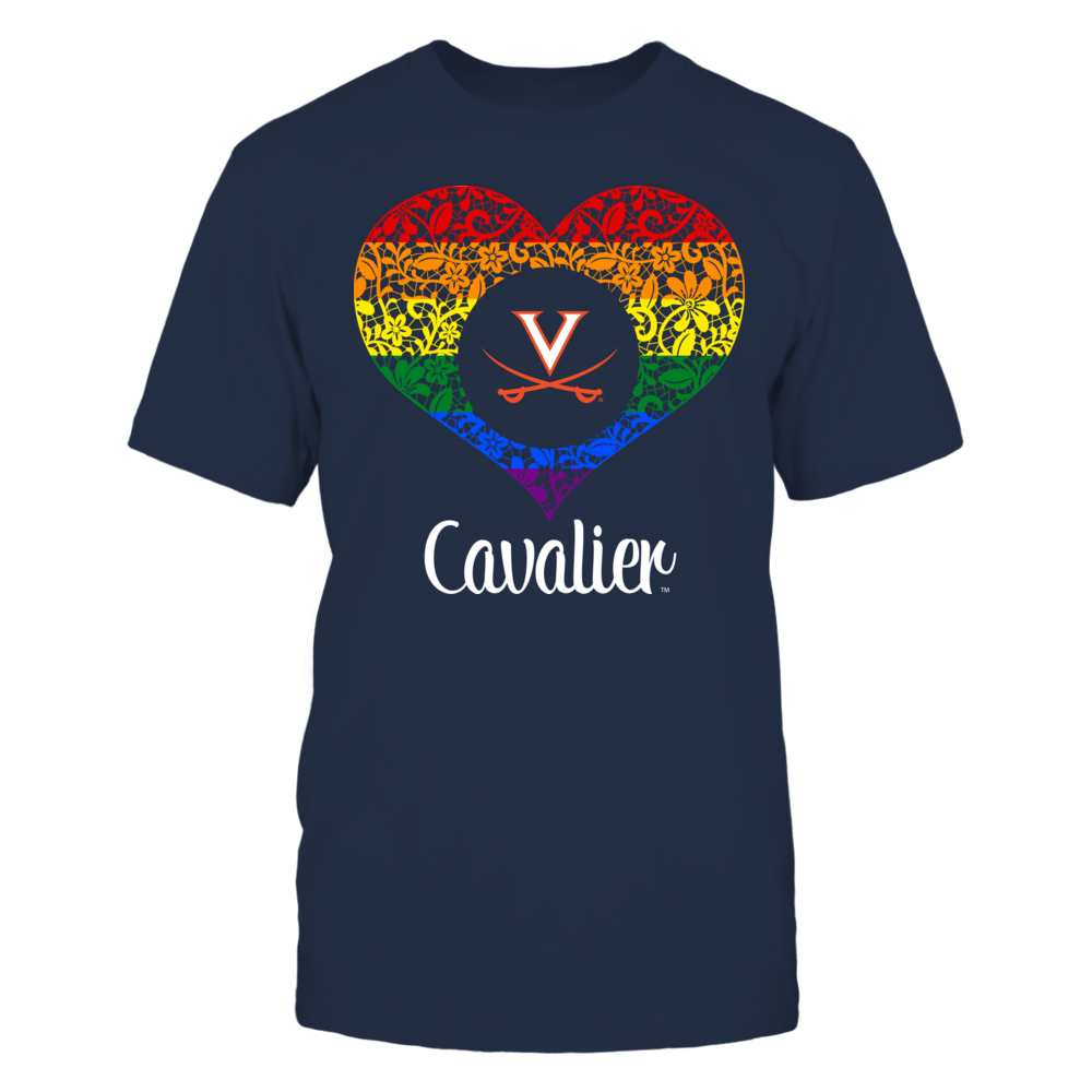 Virginia Cavaliers - Lace Pride Heart Front picture