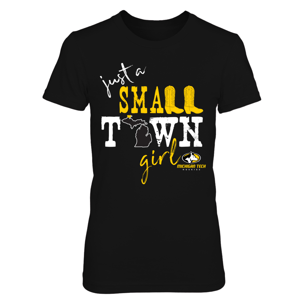 Michigan Tech Huskies - Small town girl - State Outline Front picture