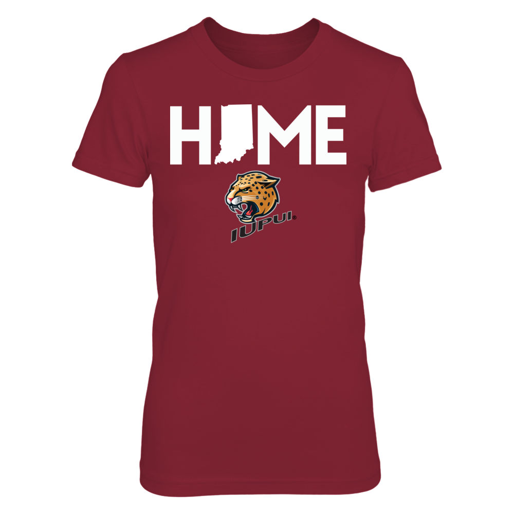 Home With State Outline - IUPUI Jaguars Front picture