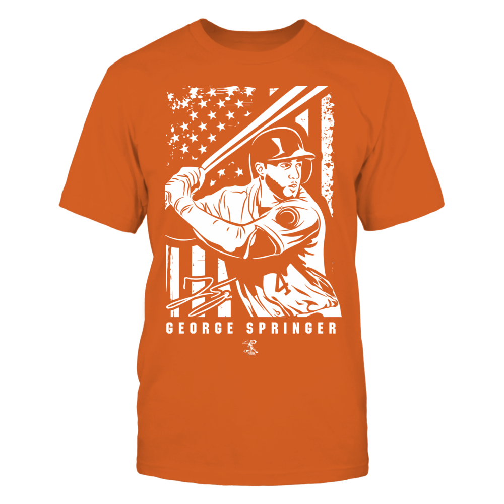 Player Illustration Flag - George Springer Front picture