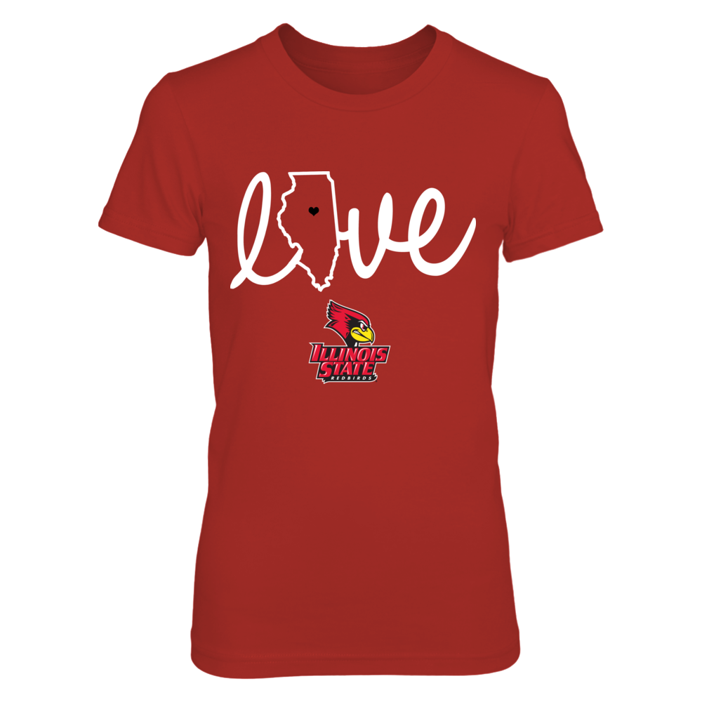 Illinois State Redbirds - State Love - Red shirt Front picture