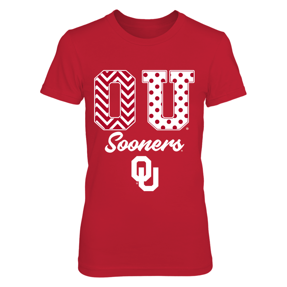 Oklahoma Sooners - Patterned Letters Front picture