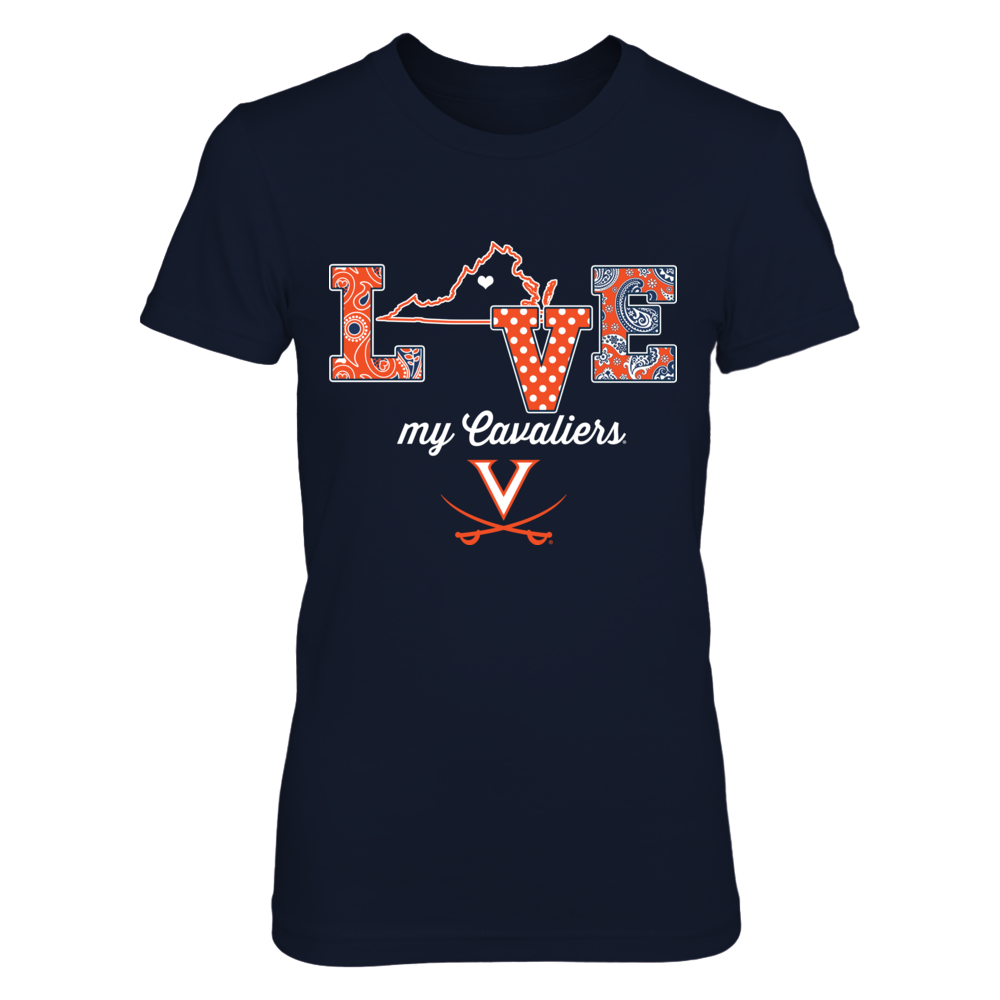 Virginia Cavaliers - Love My Team - State Outline Front picture