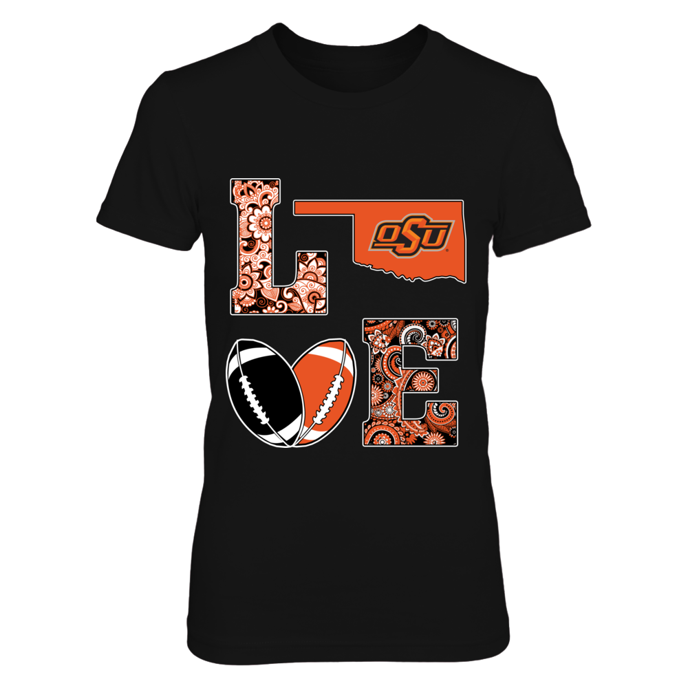 Oklahoma State Cowboys - Love my team - block - football Front picture