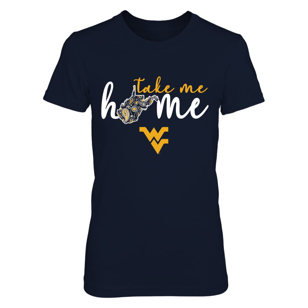 West Virginia Mountaineers - Take Me home - Paisley Pattern State Map Front picture