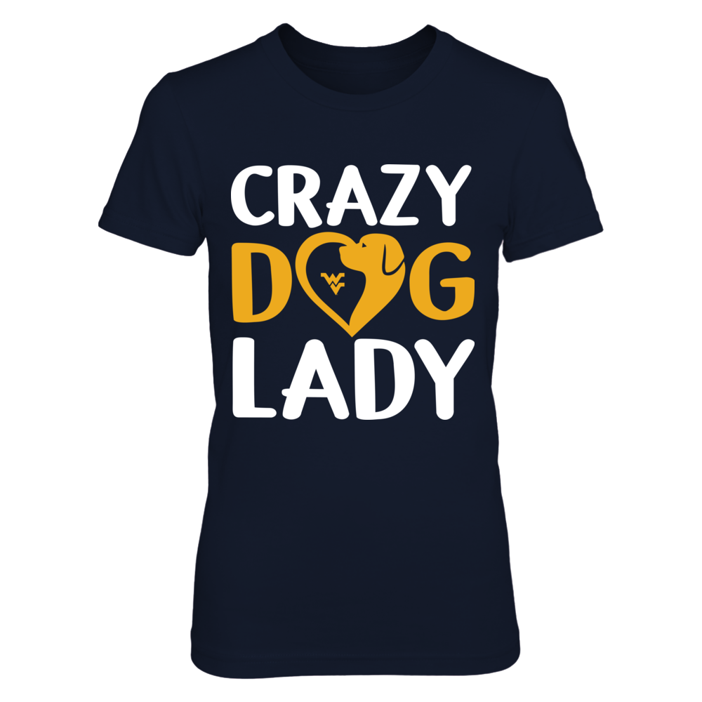 West Virginia Mountaineers - Crazy Dog Lady Front picture