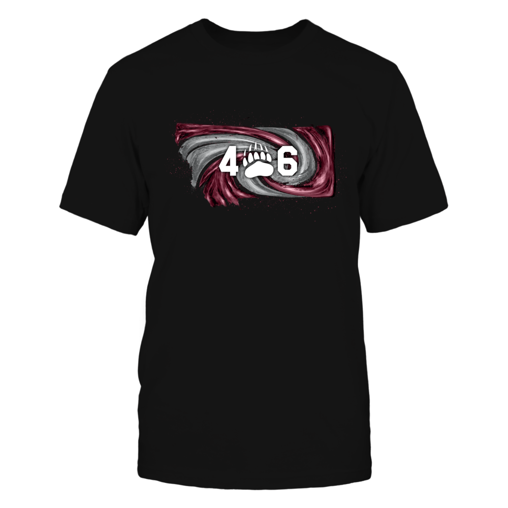 Montana Grizzlies - Hurricane state map - Area code Front picture