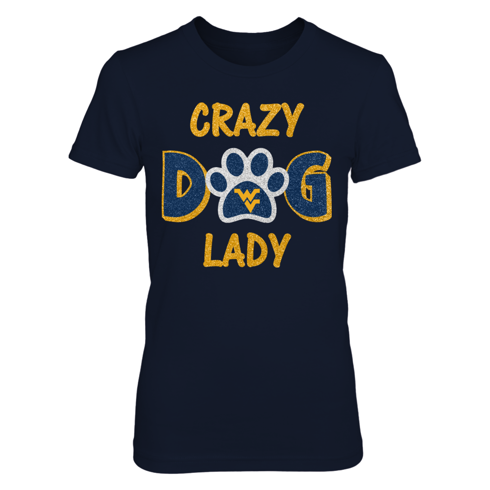 West Virginia Mountaineers - Glitter - Crazy dog lady Front picture