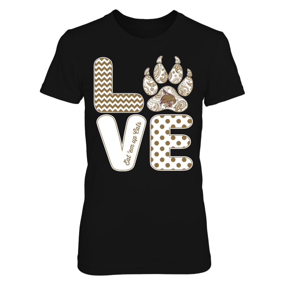 Texas State Bobcats - Stacked Love - Pawprint Front picture
