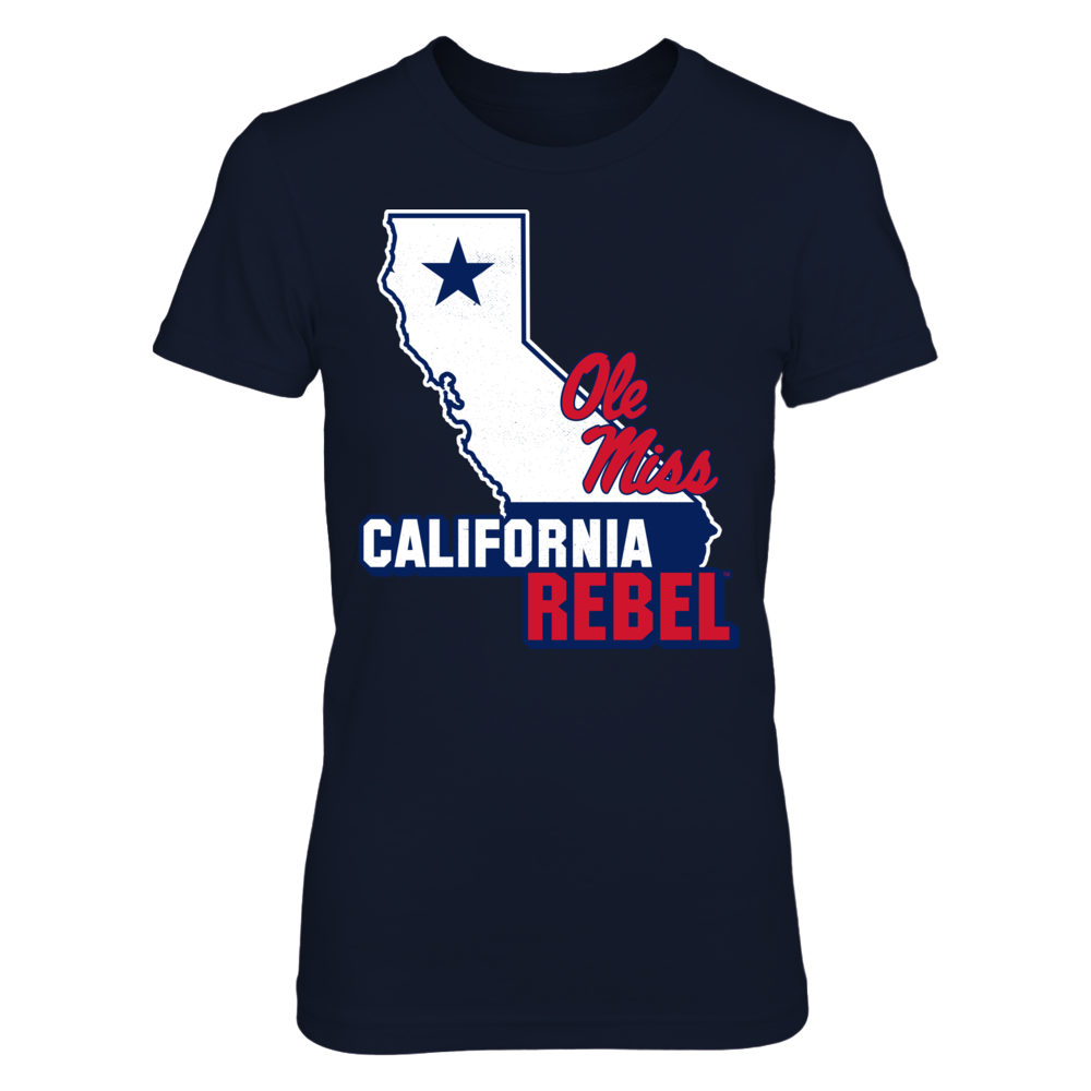 Map Mascot - California - Ole Miss Rebels Front picture