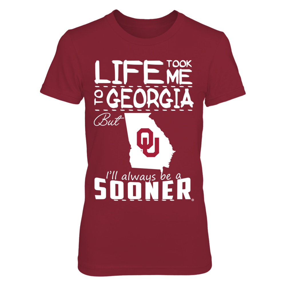 Oklahoma Sooners - Life Took Me - Georgia - Red shirt Front picture