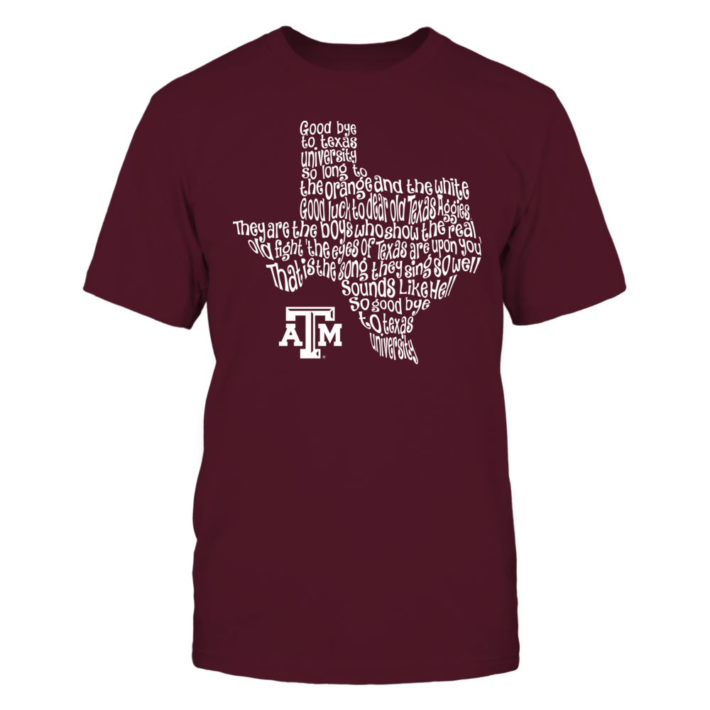 Texas A&M Aggies -  Fight Song Inside State Map Front picture