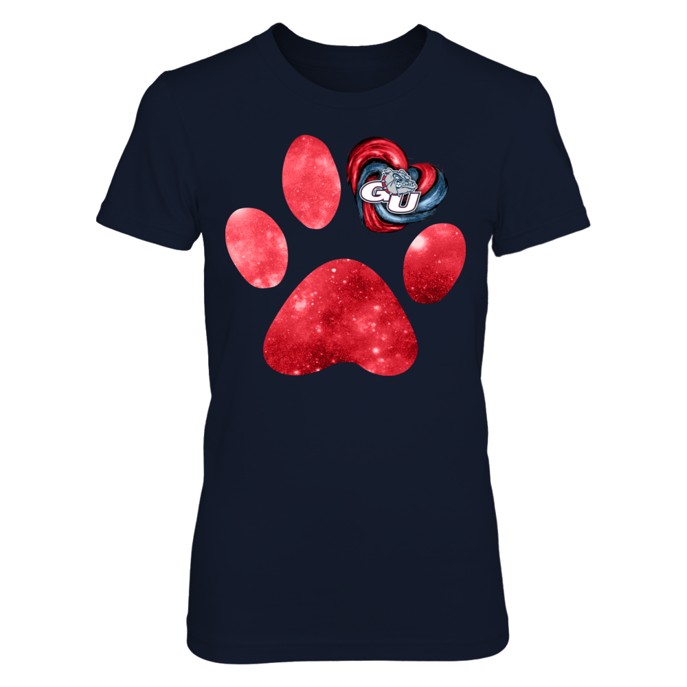 Gonzaga Bulldogs - One heart paw Front picture