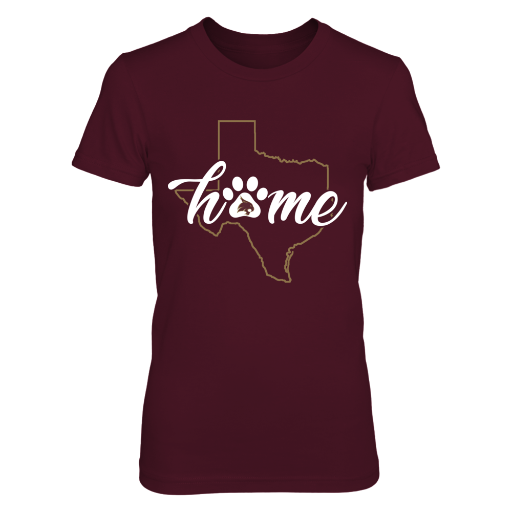 Texas State Bobcats -  Home State Outline - Paw Front picture