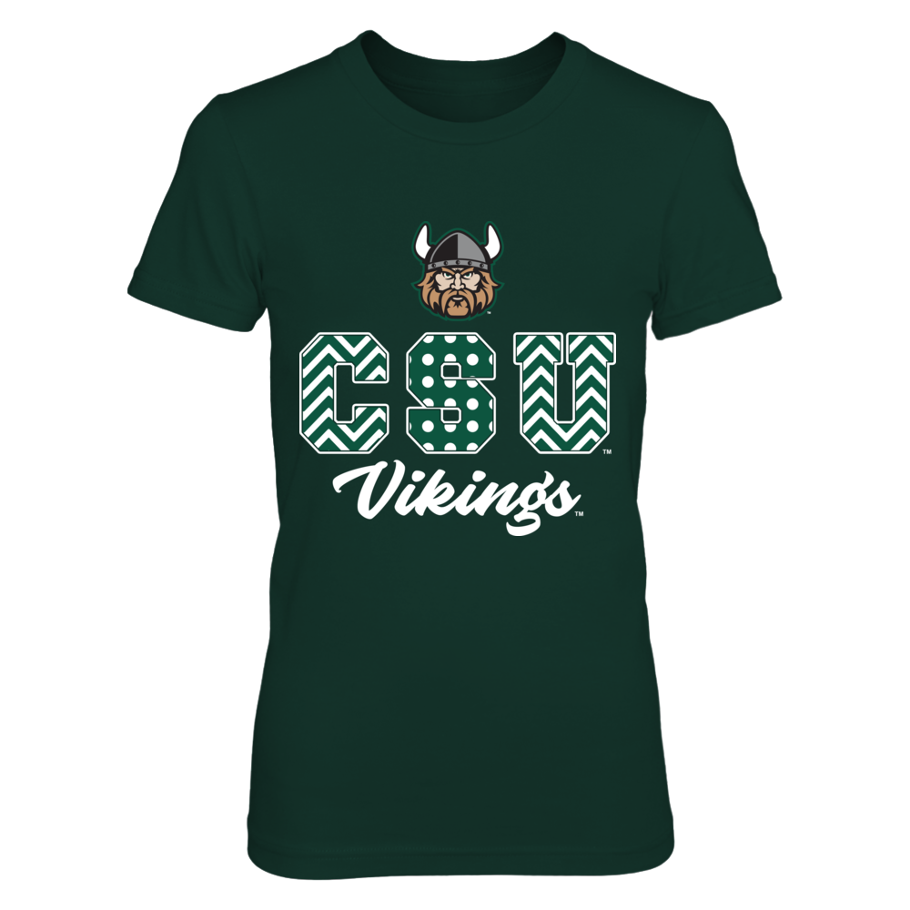 Cleveland State Vikings -  Patterned Letters Front picture