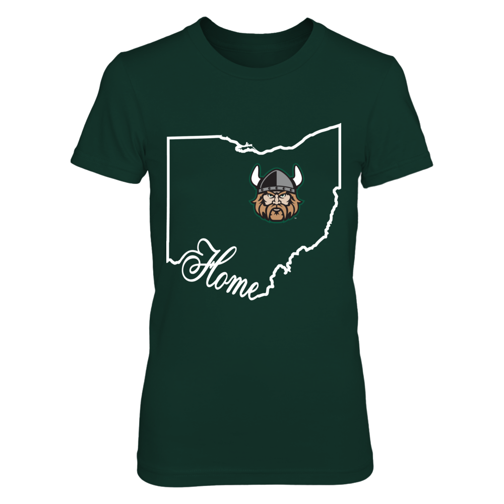 Cleveland State Vikings -   Home In State Outline Front picture