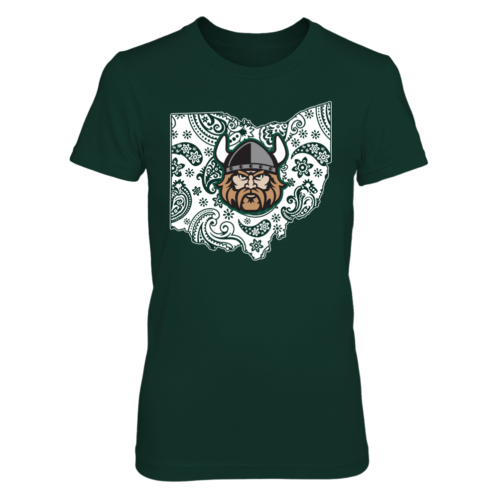 Cleveland State Vikings - Paisley State Map Front picture