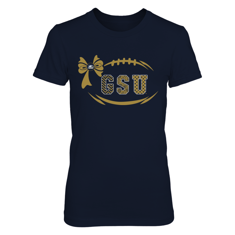 Georgia Southern Eagles - Football Bow Patterned Letter Front picture