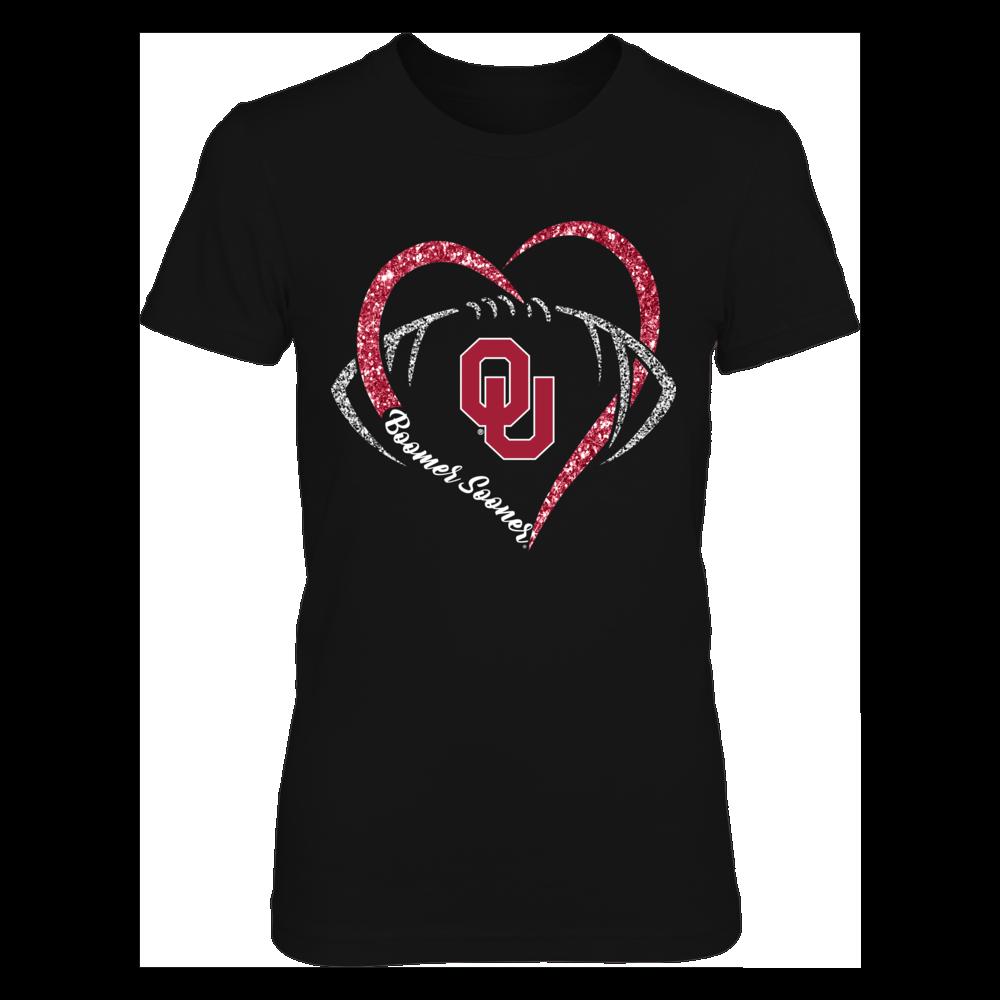 Oklahoma Sooners - Heart football slogan Front picture