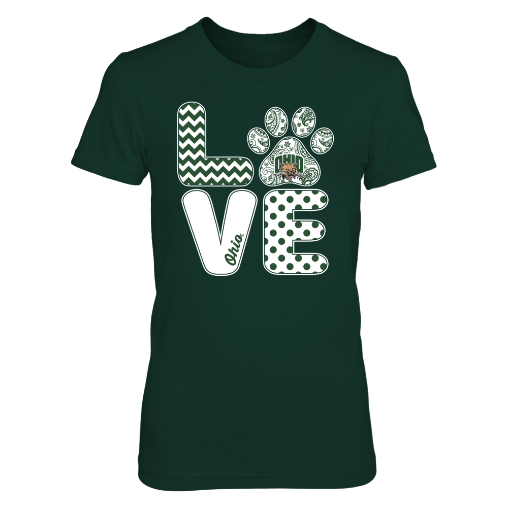 Ohio Bobcats -  Love - Paw Front picture