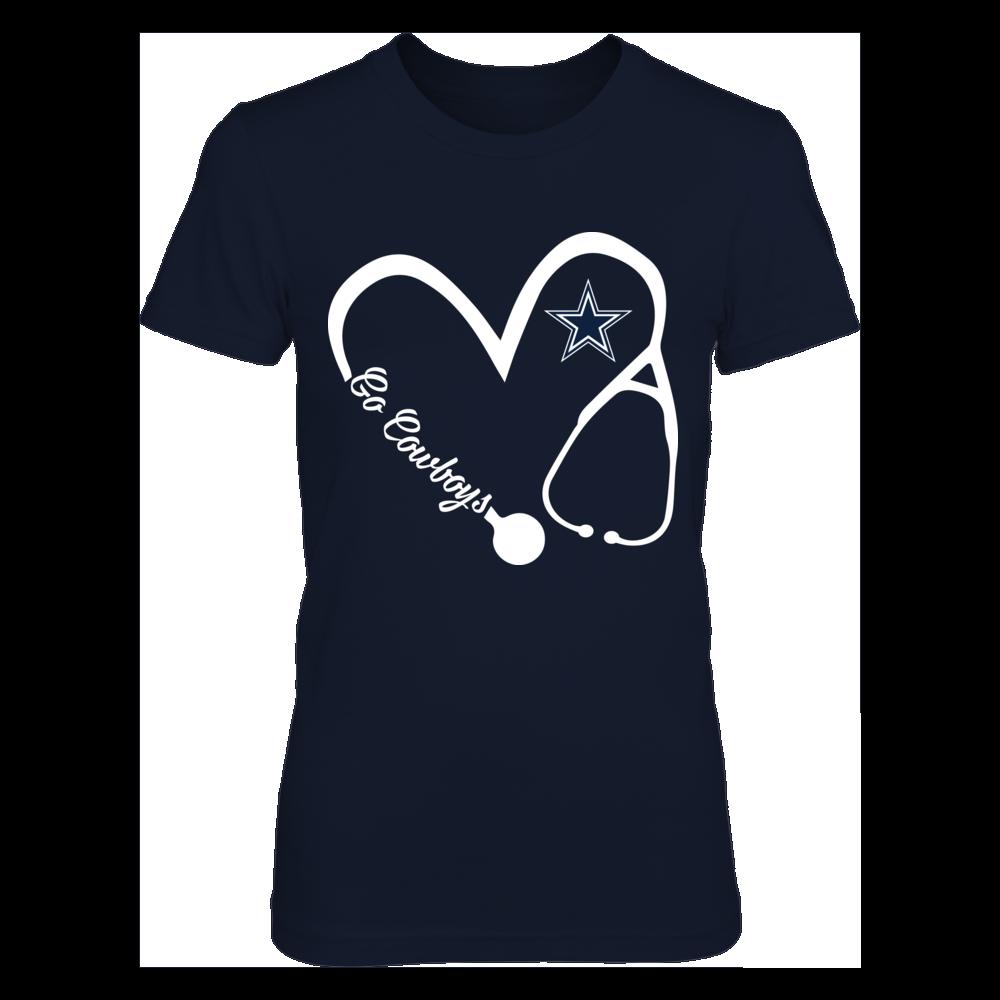 Dallas Cowboys -  Heart 3/4 - Nurse Front picture