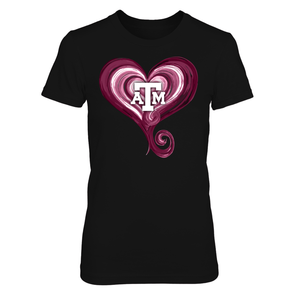 Texas A&M Aggies - True love heart Front picture