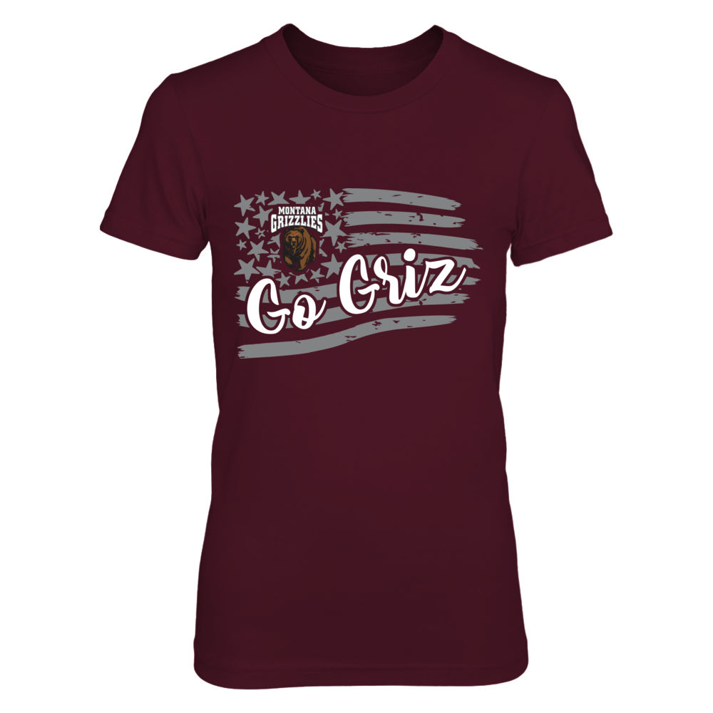Montana Grizzlies - American flag slogan Front picture