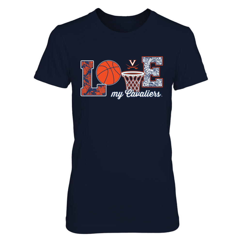 Virginia Cavaliers -  Love My Team - Basketball Symbol Front picture
