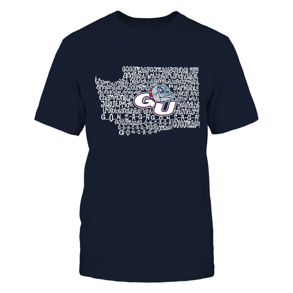 Gonzaga Bulldogs - Fight Song Inside State Map Front picture