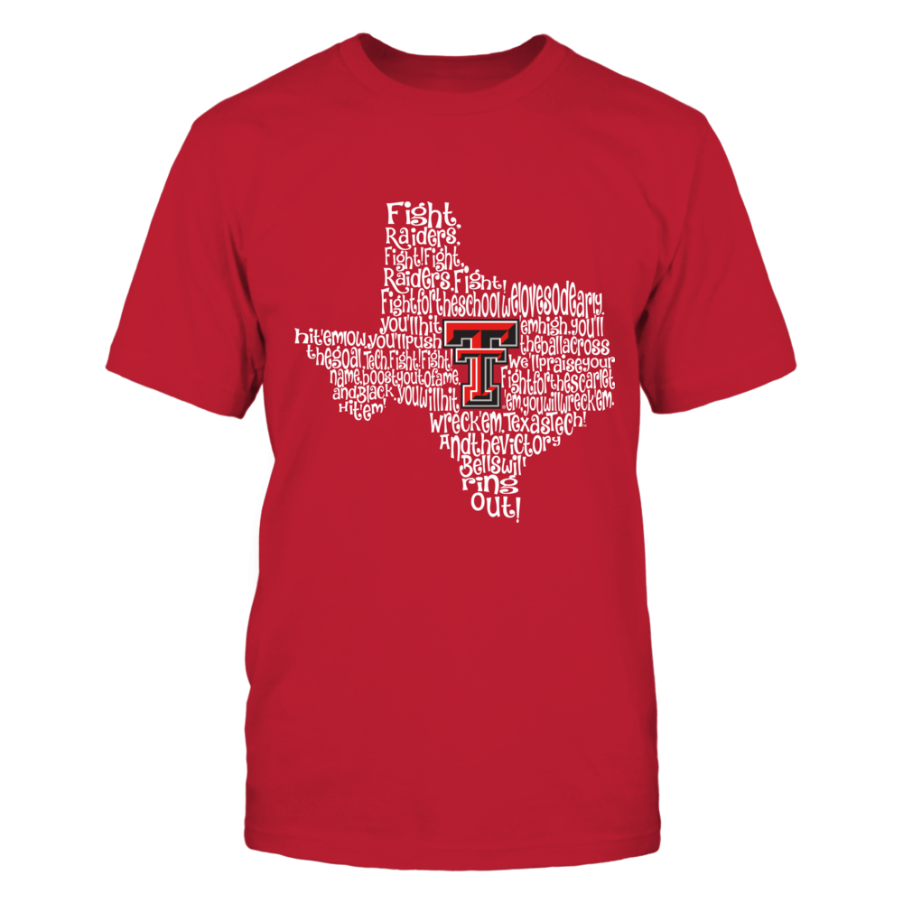Texas Tech Red Raiders - Fight Song Inside State Map Front picture