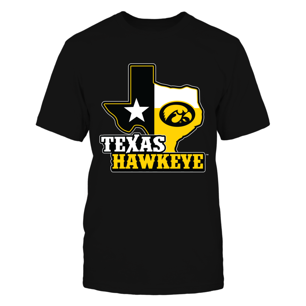 Iowa Hawkeyes -  Texas Map Mascot Front picture