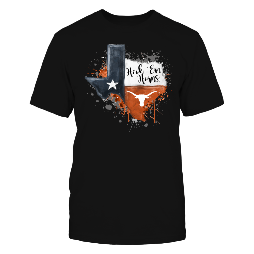 Texas Longhorns - Color Drop State Map - IF-IC13-DS27 Front picture