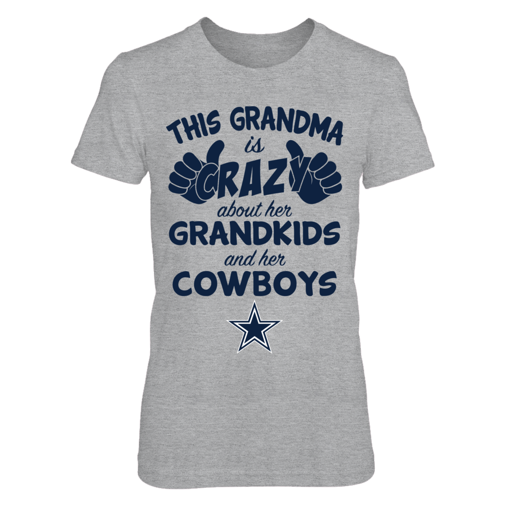 Dallas Cowboys - This Grandma Is Crazy - Grey Shirt Front picture