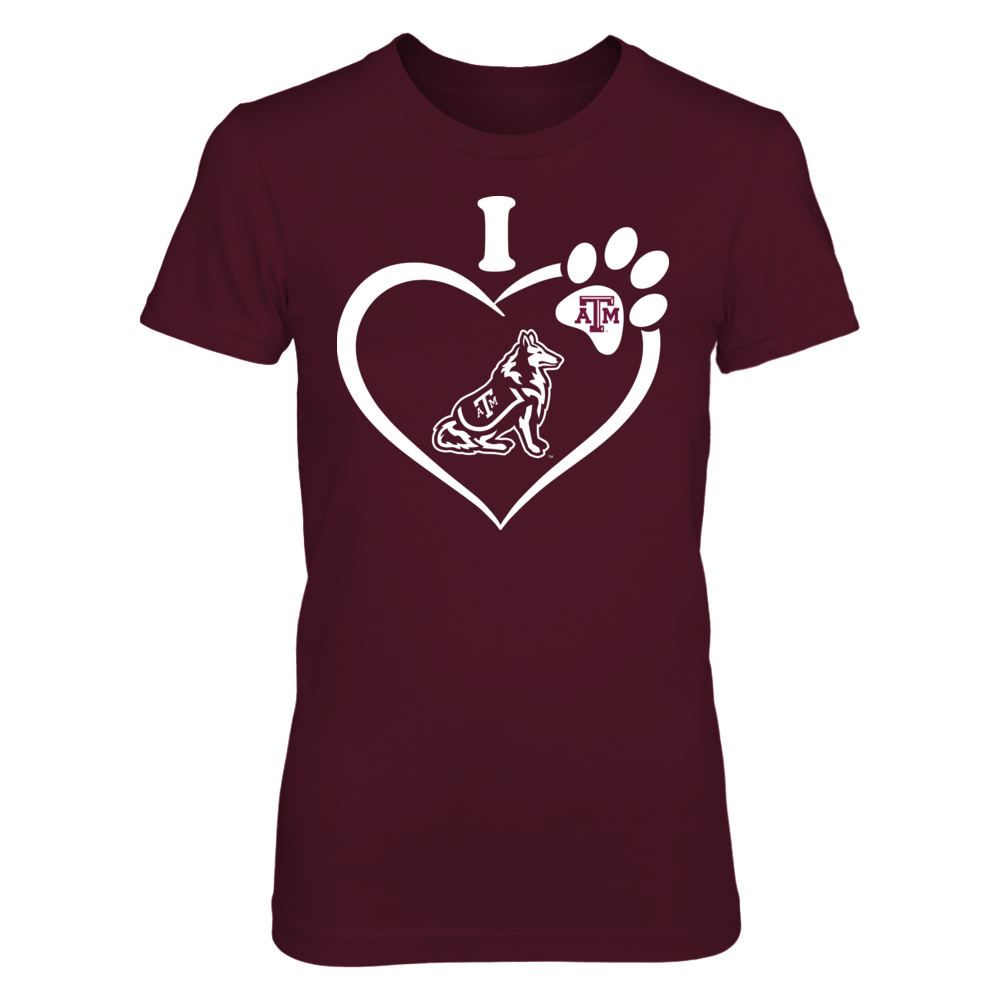 Texas A&M Aggies - I Heart Paw Front picture