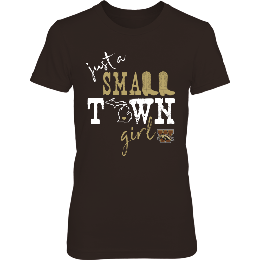 Western Michigan Broncos - Small Town Girl - State Outline Front picture