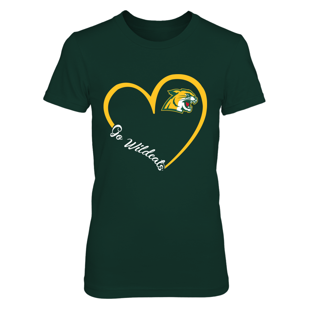 Northern Michigan Wildcats -  Heart 3/4 Front picture