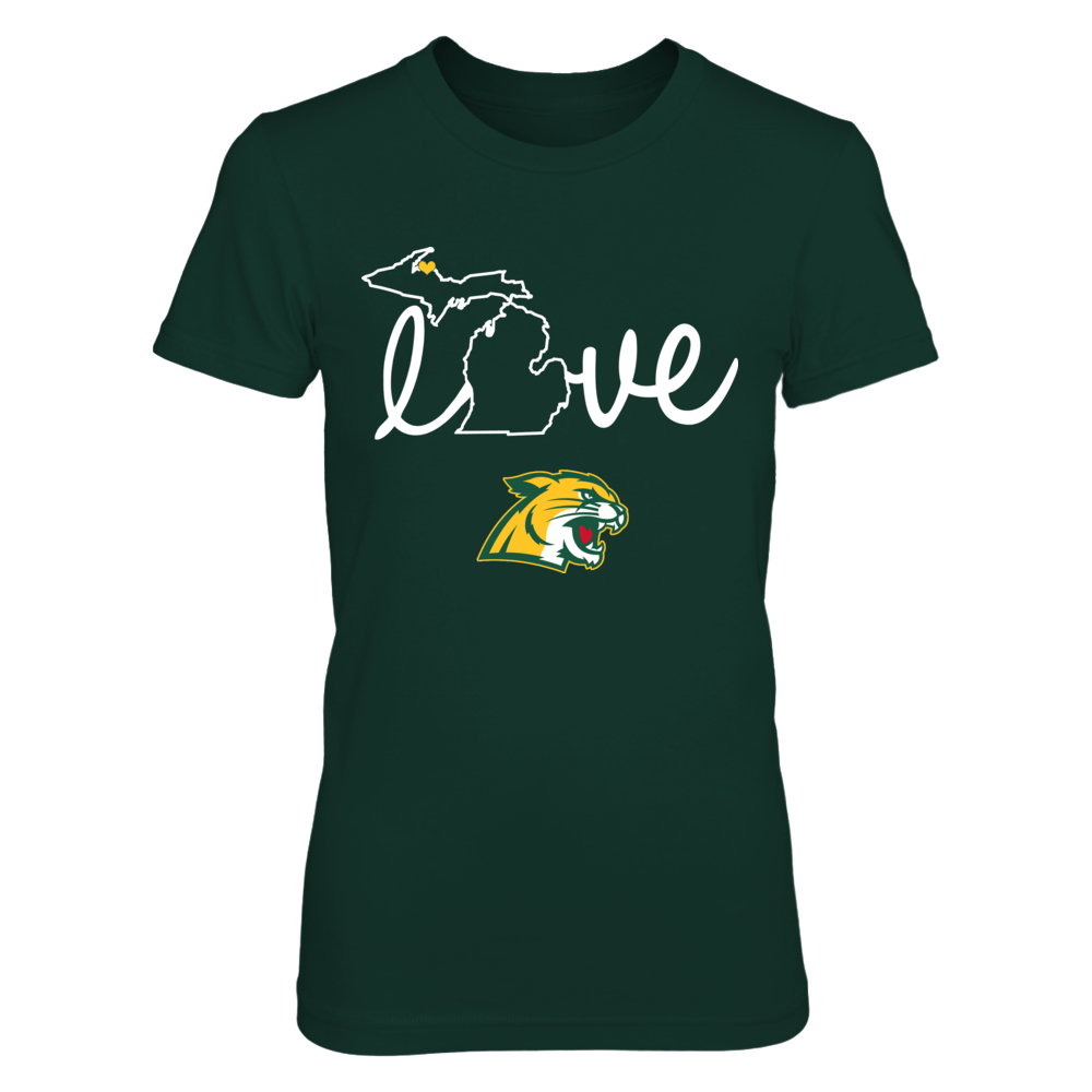 Northern Michigan Wildcats - State Love Front picture