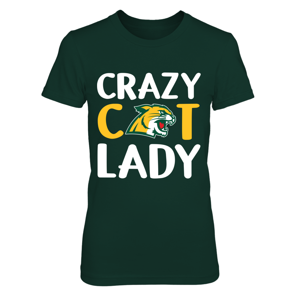 Northern Michigan Wildcats - Crazy Lady - Logo Front picture