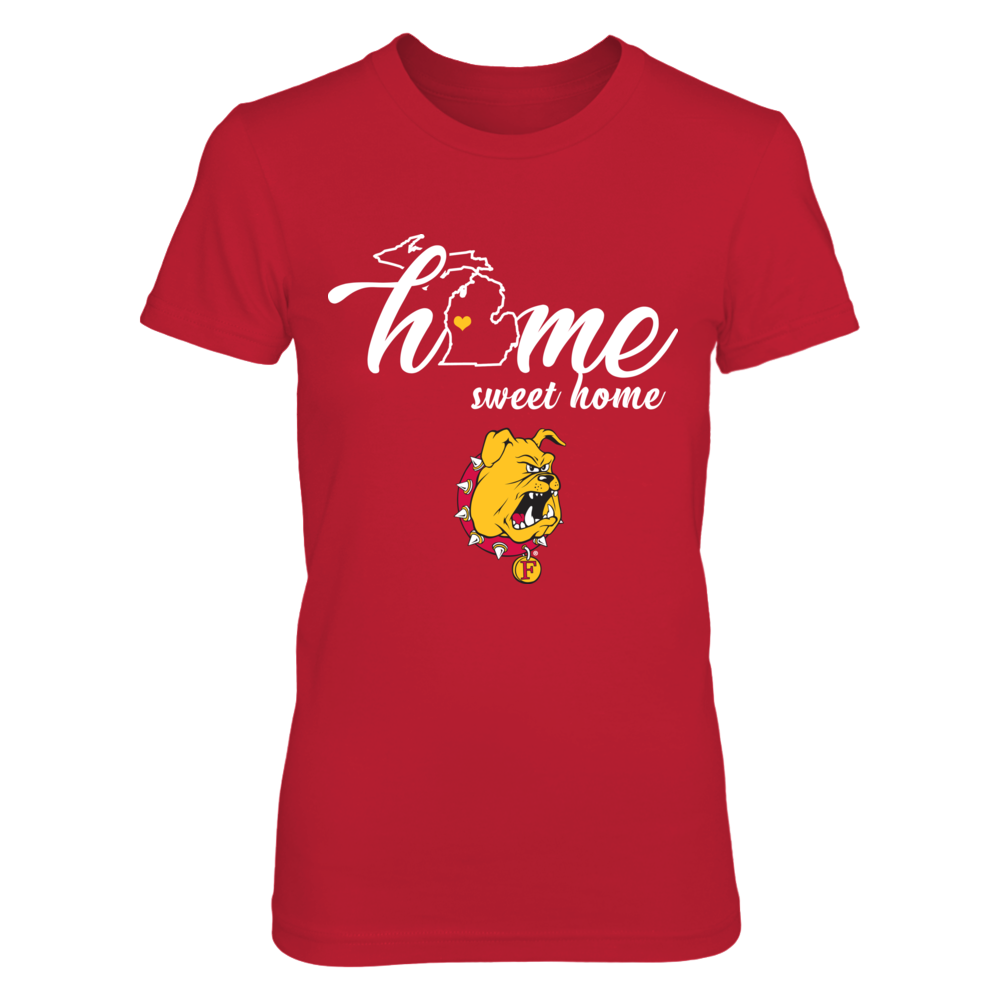 Ferris State Bulldogs - Home Sweet Home - State Outline Front picture