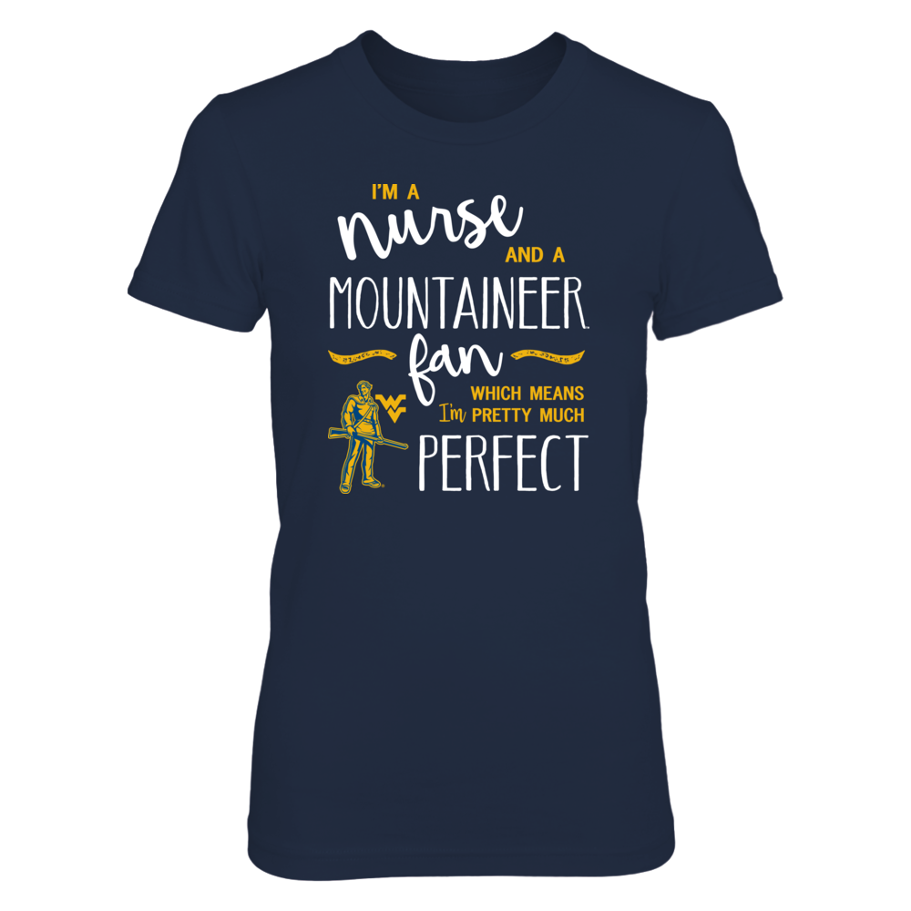 Perfect Nurse WVU Mountaineers Fan T-Shirt | Tank Front picture