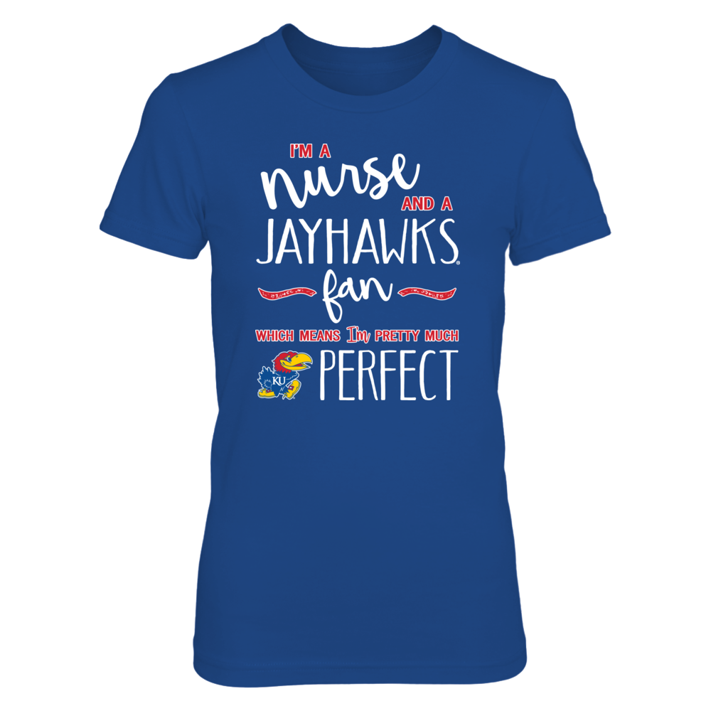 Perfect Nurse Kansas Jayhawks Fan T-Shirt | Tank Front picture