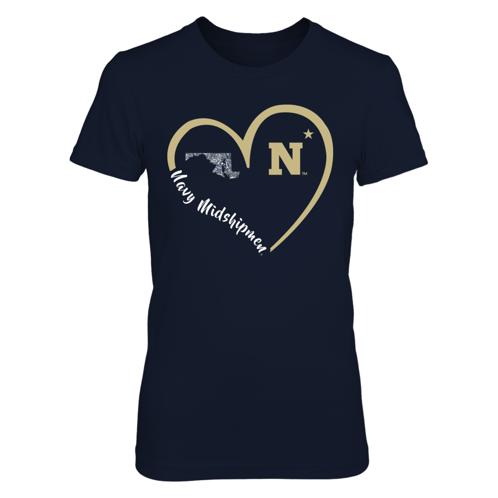 Navy Midshipmen - Heart 3/4 Front picture
