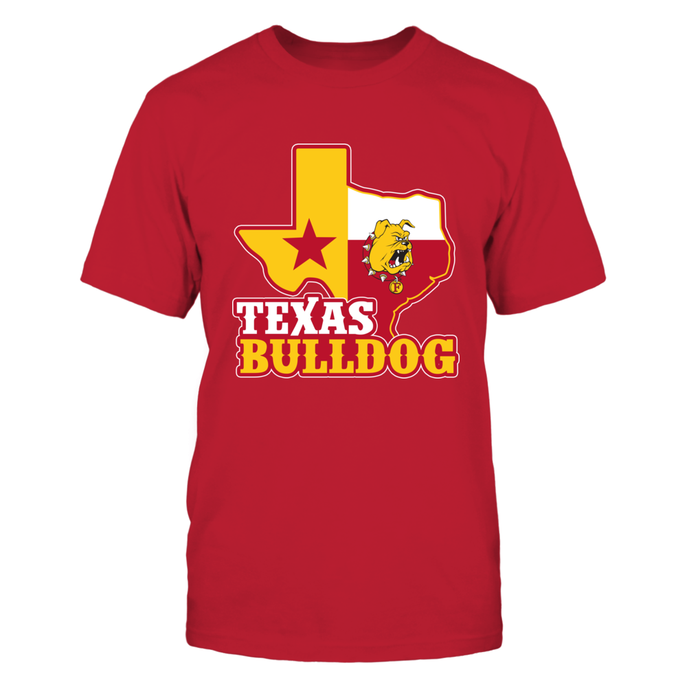 Ferris State Bulldogs - Texas Map Mascot Front picture