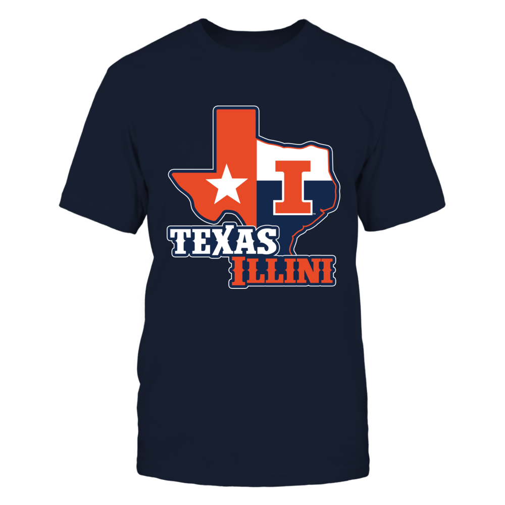Illinois Fighting Illini - Texas Map Mascot Front picture