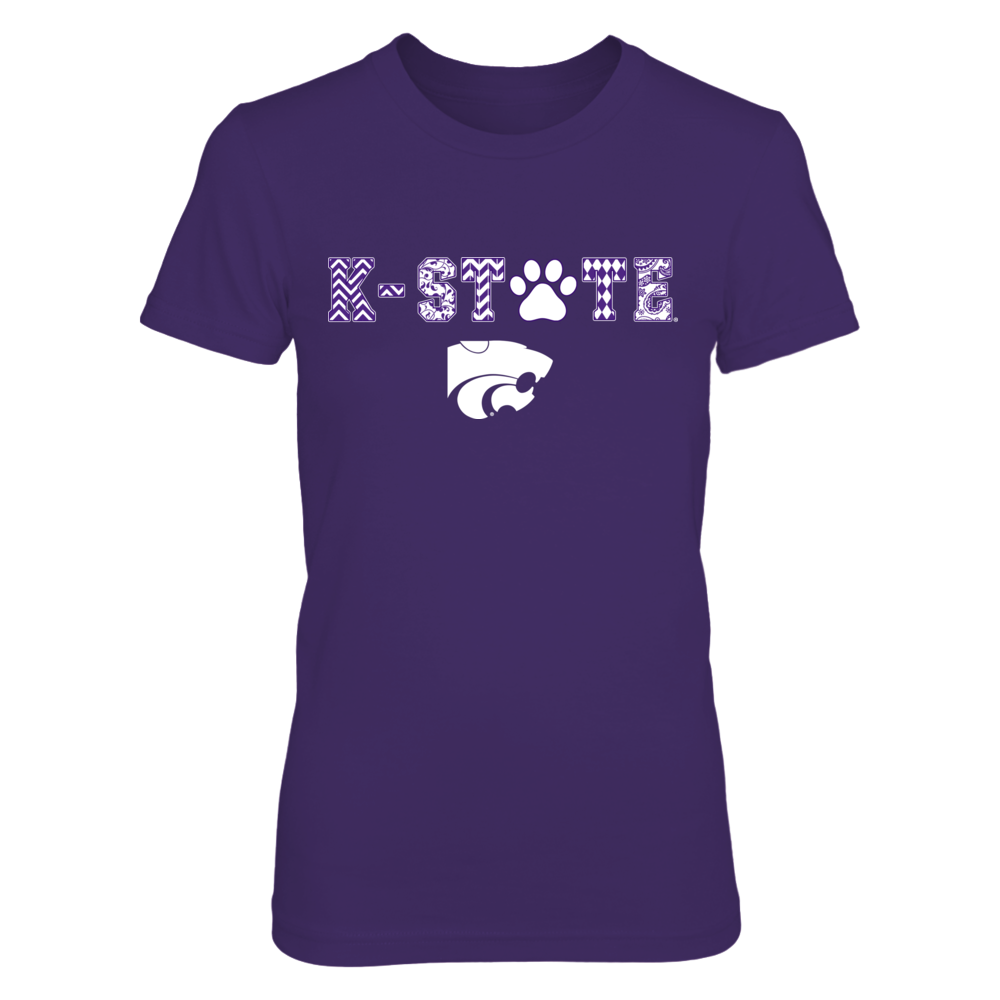 Kansas State Wildcats - Patterned Letters - Paw Front picture
