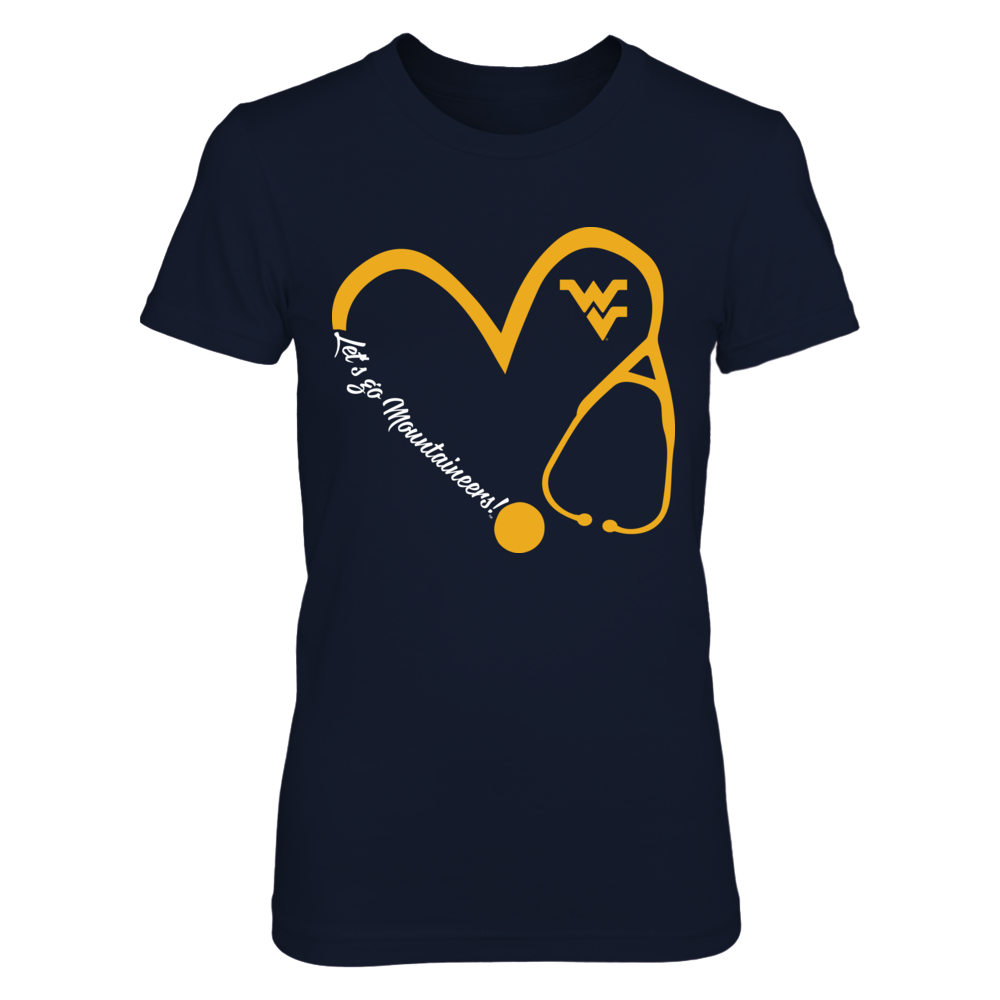 West Virginia Mountaineers - Heart 3/4 - Nurse Front picture
