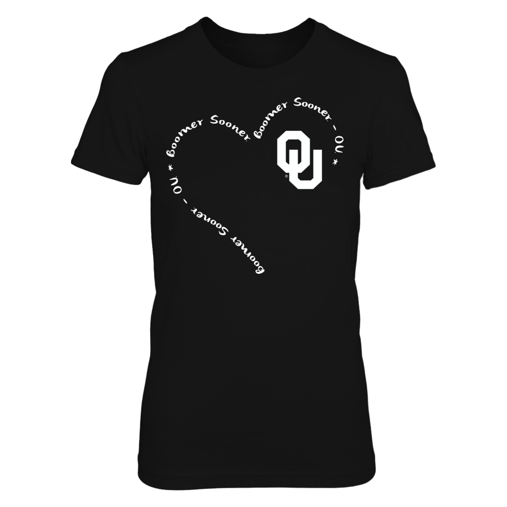 Oklahoma Sooners - Slogan Heart 3/4 Front picture