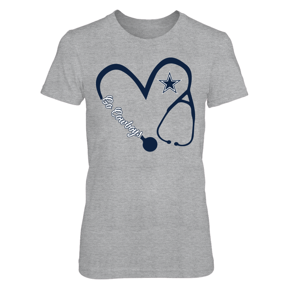 Dallas Cowboys - Heart 3/4 - Nurse - Grey Shirt Front picture