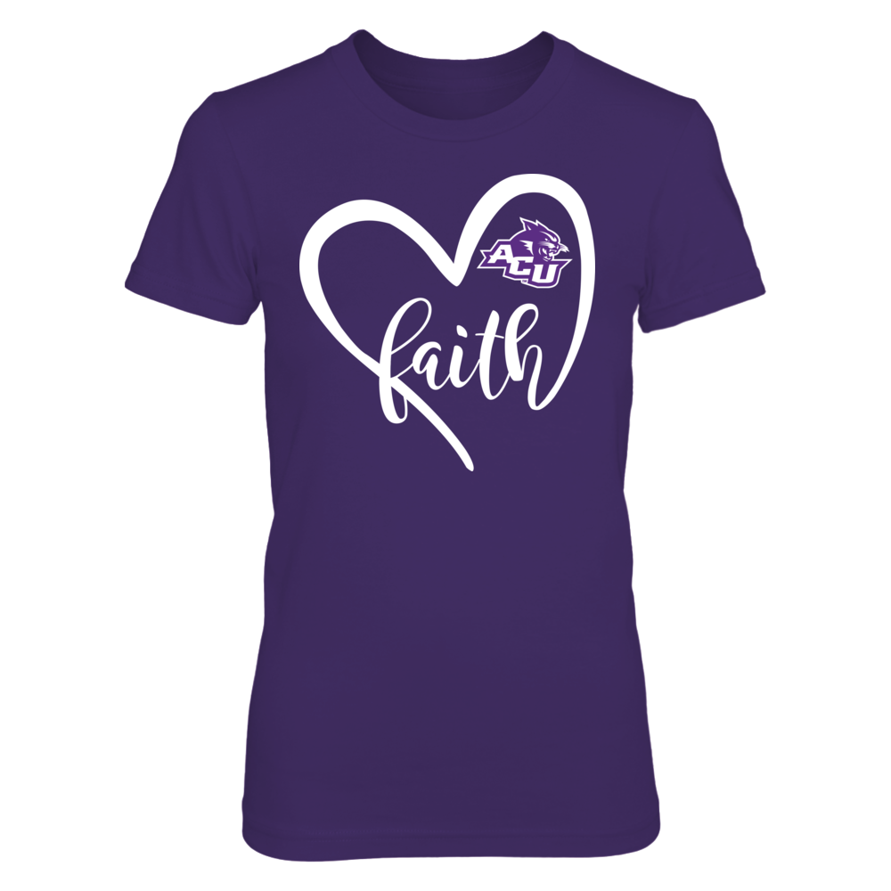 Abilene Christian Wildcats - Heart Faith Front picture